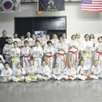 Taekwondo students earn new belts