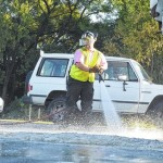 Cleanup follows truck spill
