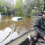Door-to-door searches, swamped roads in S.C.