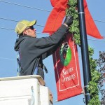 Christmas decorations adorn downtown Rockingham