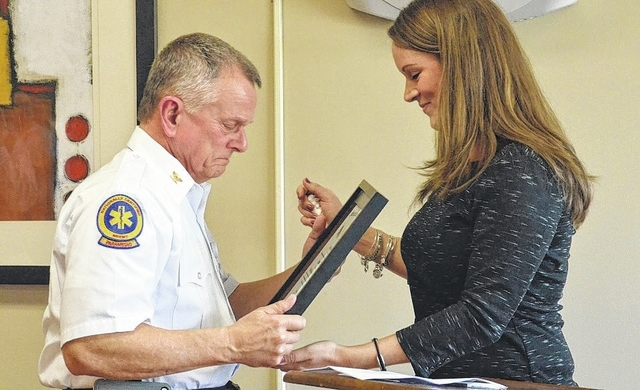 Retiring EMS director receives honor