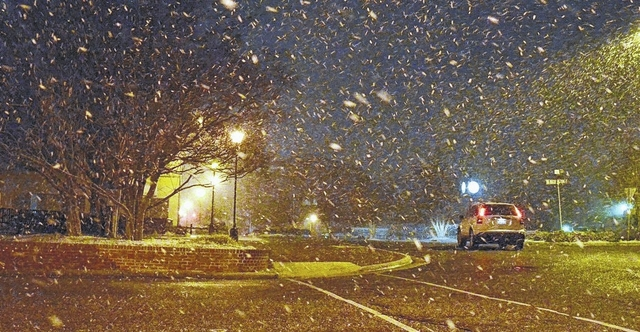 Forecast calls for chance of snow Friday, Monday
