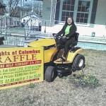 Rockingham woman wins lawnmower in Knights of Columbus raffle