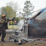 Burnin' down the house: 4 Richmond County fire departments train with controlled burn