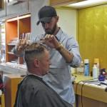 Cutting hair no sweat for barber Daniel Sweatt