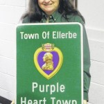 Ellerbe becomes Purple Heart town