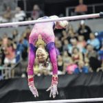 Ashton Locklear shines on uneven bars at P&G Championships