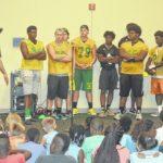 Richmond Senior football pays a visit to summer reading program