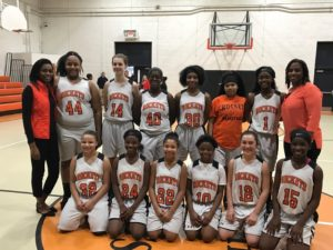 Rockingham Middle School girls basketball wins 5th straight conference title