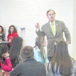 U.S. Rep. Robert Pittenger gives Lumberton students a civics lesson