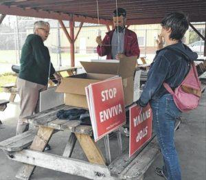 Environmental groups protest Enviva plant