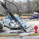 18-wheeler snaps utility pole in Rockingham