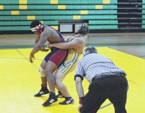 Richmond Senior wrestling splits matches against Hoke County, Cheraw